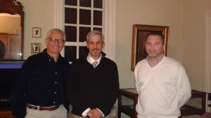 President Lenny Wagner, Professor Richard Veit, and Vice President Mickey DiCamillo