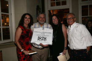 Our Evening in Mo'Town hosts, Jim And Karla Varrell with Trustee Julie Maravich and President Lenny Wagner.