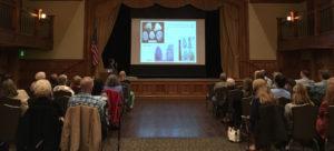 Dr. Lattanzi describing the varieties of prehistoric toolstone.