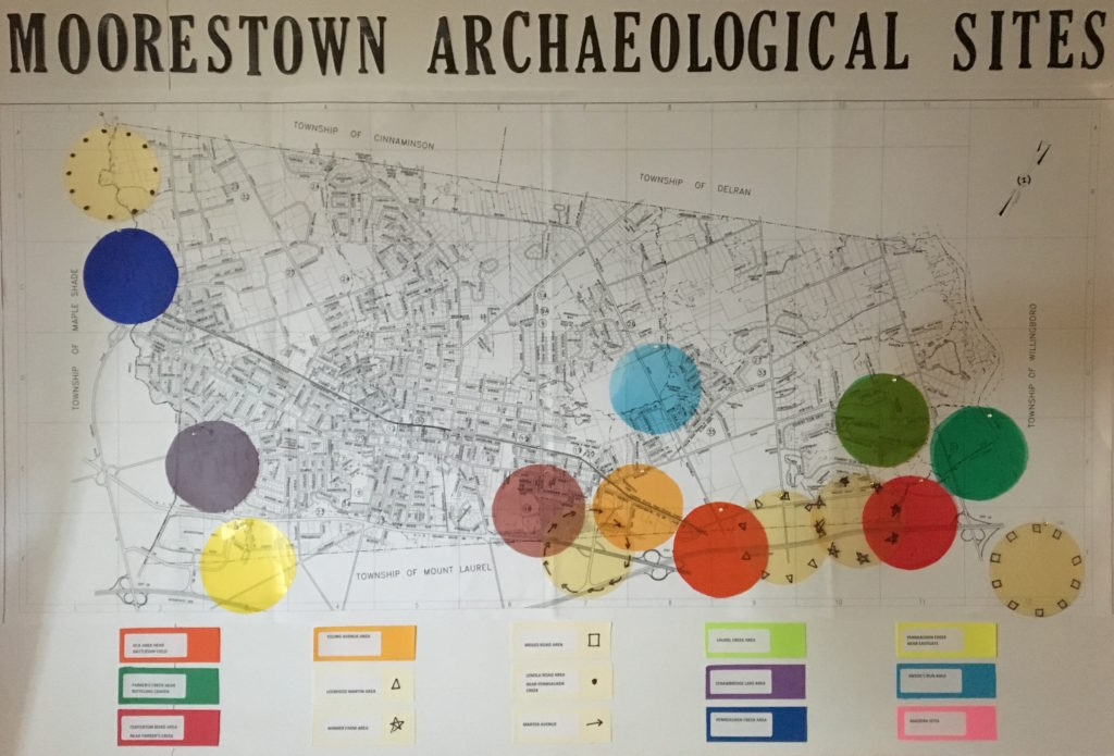 Moorestown Archaeological Sites Map: Jack Cresson Collection & Madeira site